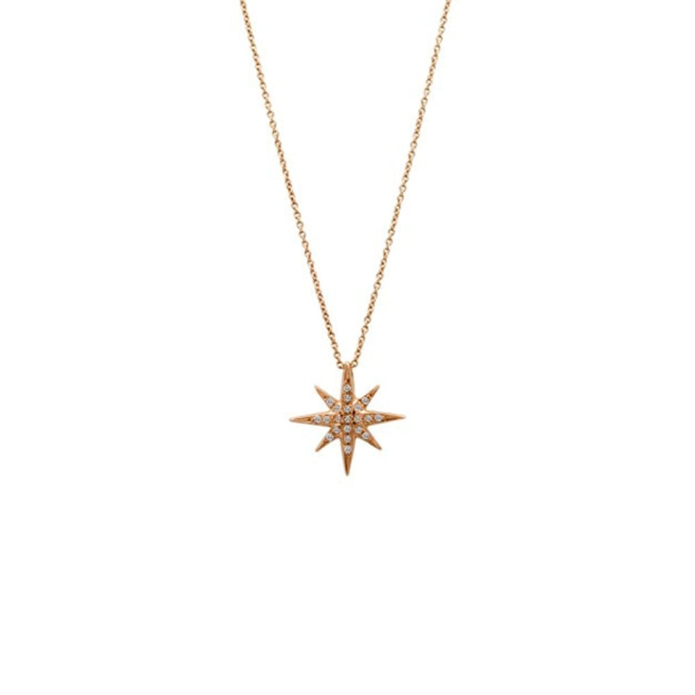 18k rose gold north star diamond necklace fischer evans 18k rose gold north star diamond necklace aloadofball Image collections