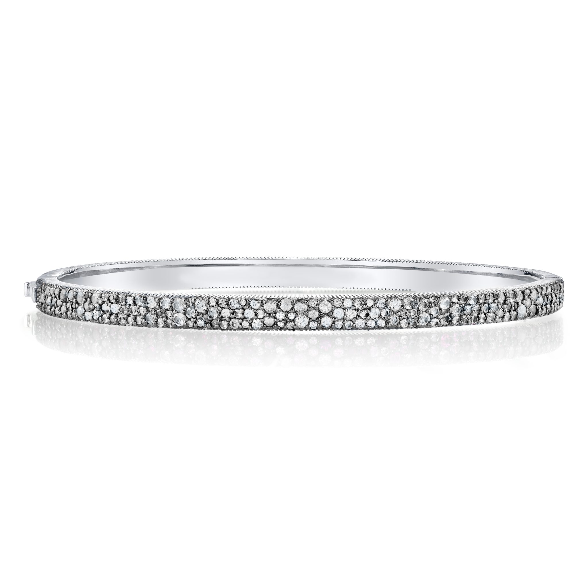 banns pave white eternity diamond bangles strand and bangle products band stone yellow