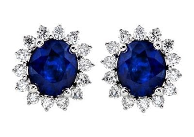 jye blue lady di earrings
