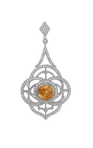 jye deco pendant with diamonds and color center