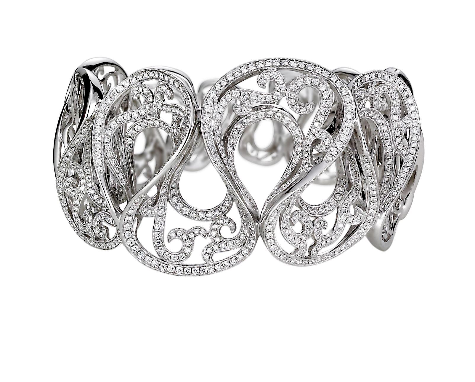 jye diamond wavy cuff